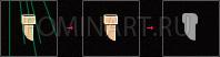 Рис. 8б Построение одноточечной перспективы для печной трубы