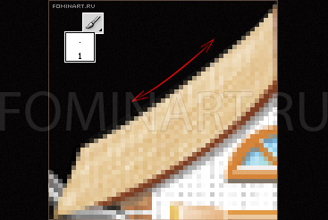 Рис. 29 Придание дополнительной рельефности текстуре