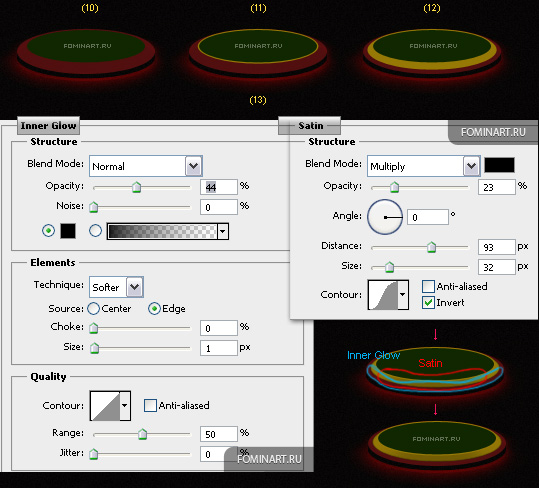 Рис. 38a Процесс создания формы позолота для подставки