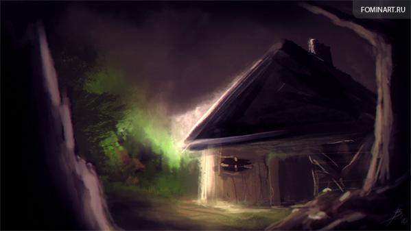 Скетч. «Заброшенный дом»