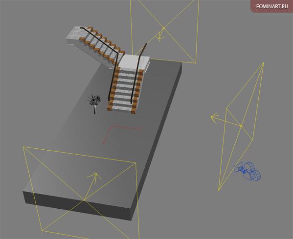 Тизер «Мраморная лестница». WIP. Вид в проекции.