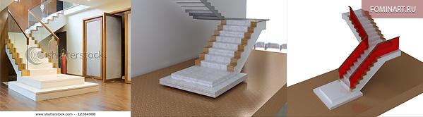 Тизер «Мраморная лестница». WIP. Референс и модель лестницы.