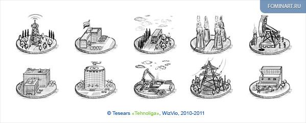 Тизеры «Технолига» - Мои наброски