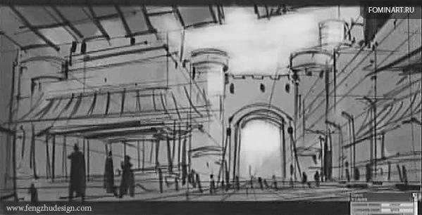 Feng Zhu - скрин скетча из видеоурока