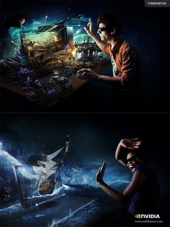 www.arsthanea.com - Реклама для NVIDIA