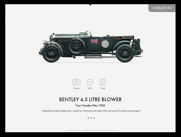 Pyrolia ROAD.Inc - Bentley 4.5 Litre Blower [вид сбоку]