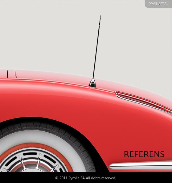 Pyrolia ROAD.Inc - Сhevrolet Сorvette С1 [1954] - антенна