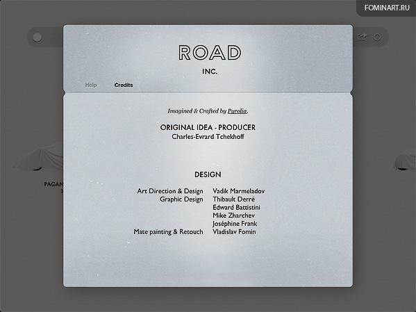 Pyrolia ROAD.Inc - iPad2 [снимок экрана] - титры