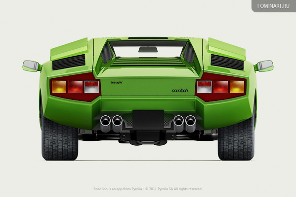 Pyrolia ROAD.Inc - Lamborghini Countach LP400 [1974] [вид сзади]