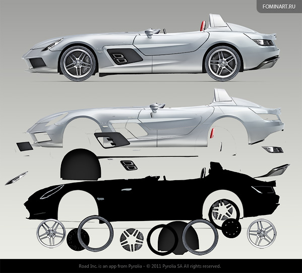 Pyrolia ROAD.Inc - Mercedes-Benz SLR Stirling Moss [2010] - разрезание